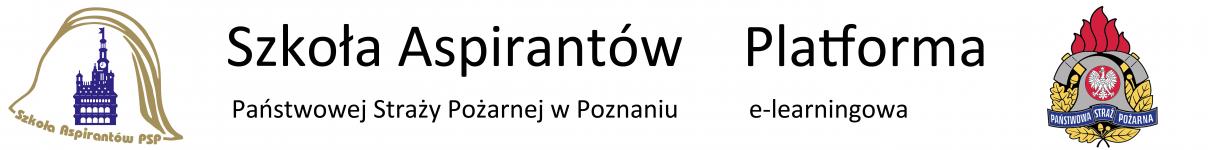 Logo of Platforma e-learningowa Szkoły Aspirantów Państwowej Straży Pożarnej w Poznaniu